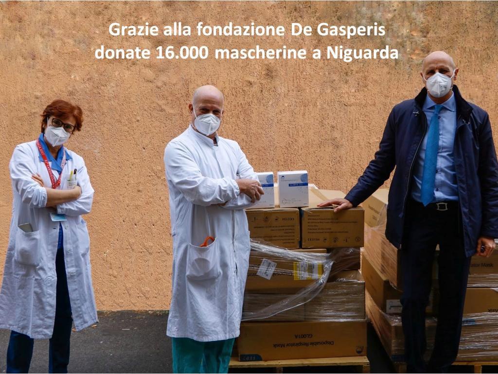 Donazione mascherine Niguarda